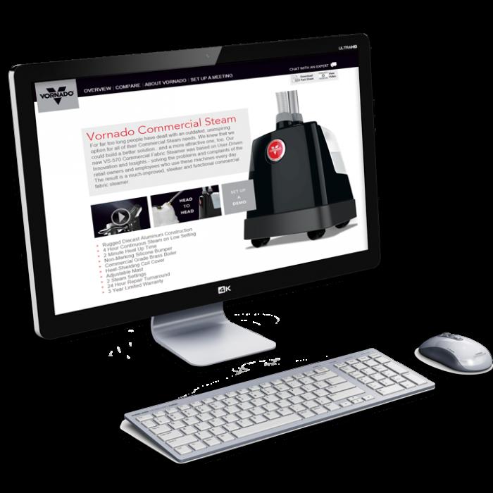 Vornado Commercial Steam Microsite