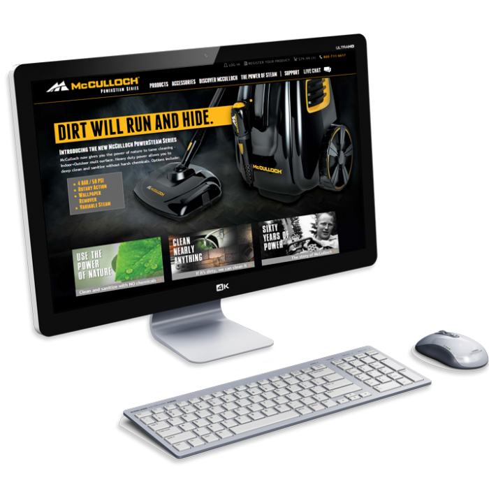 McCulloch Steam eCommerce Website
